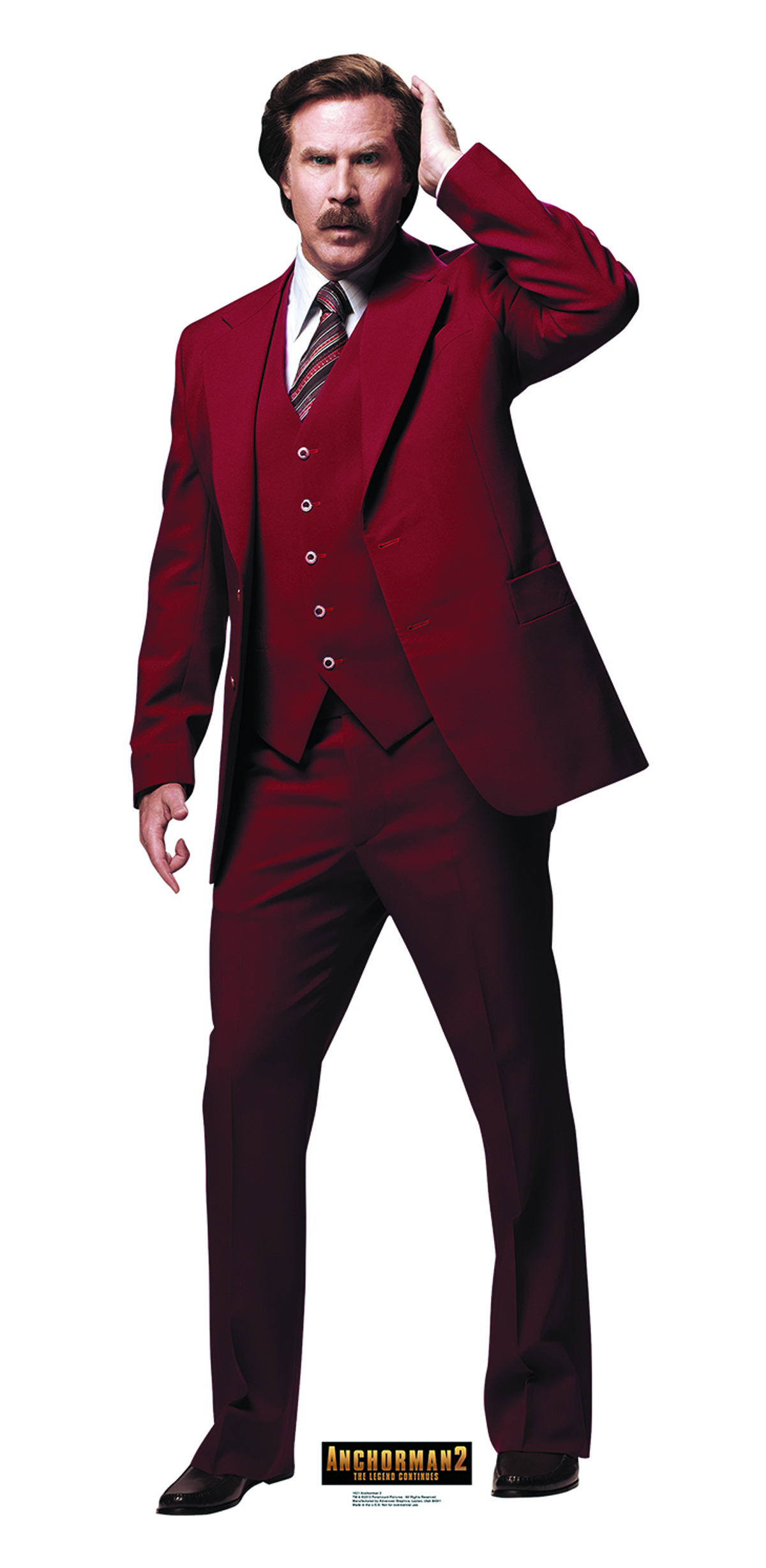 ANCHORMAN 2 RON BURGUNDY LIFE-SIZE STANDUP