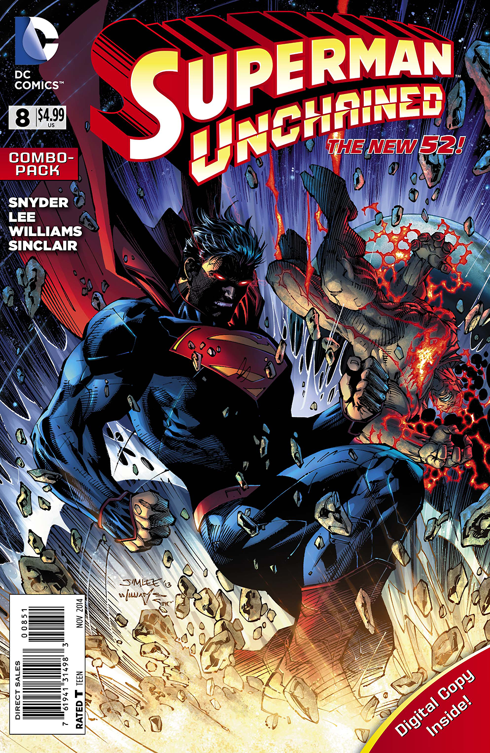 SUPERMAN UNCHAINED #8 COMBO PACK