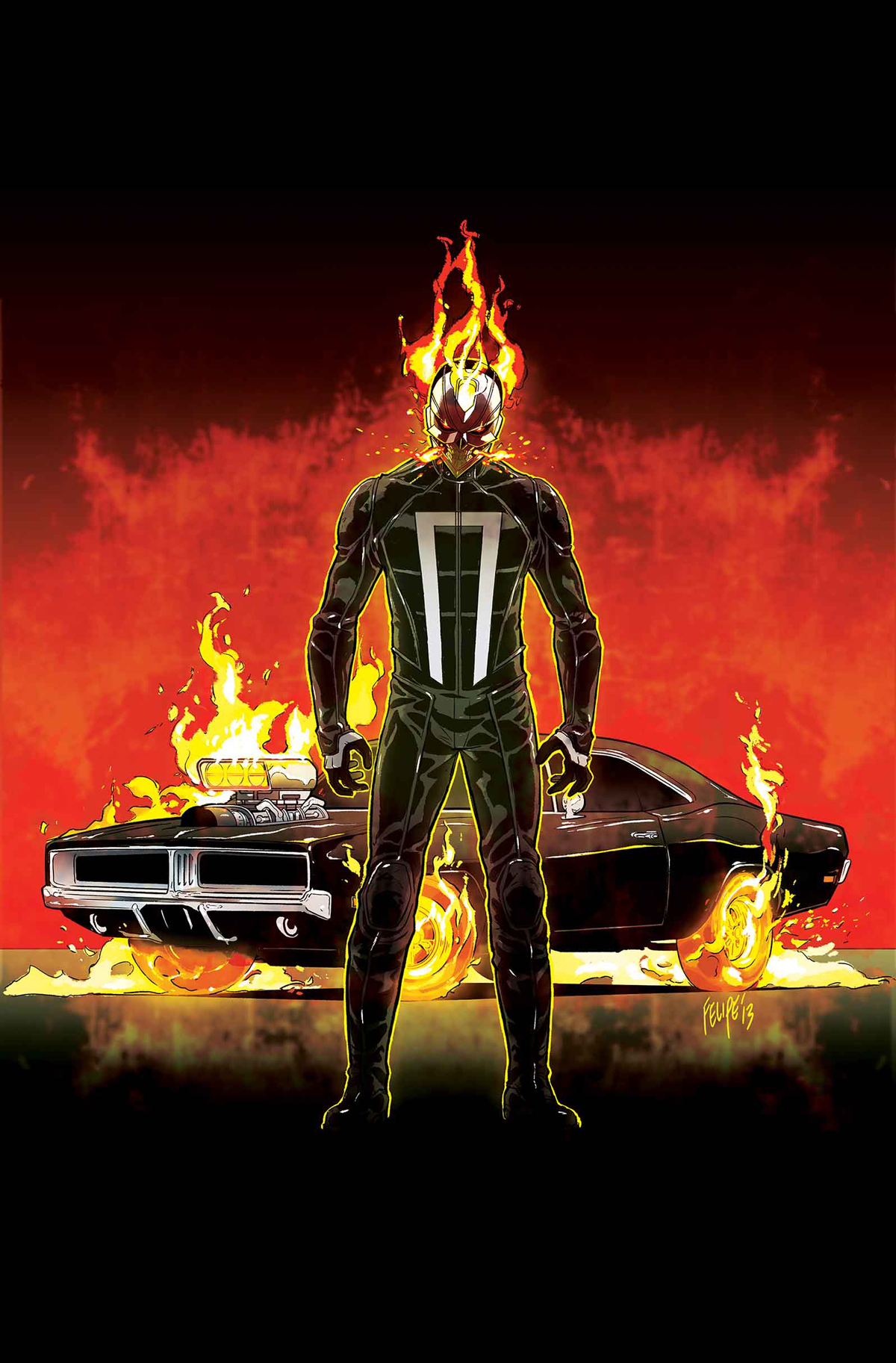 ALL NEW GHOST RIDER #1 SMITH VEHICLE VAR ANMN
