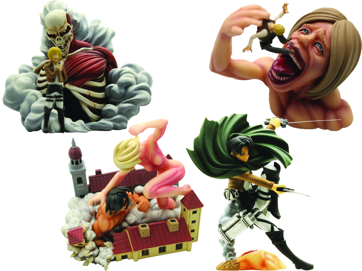 ATTACK ON TITAN CAPSULE Q 02 CAP TOY 30PC ASST