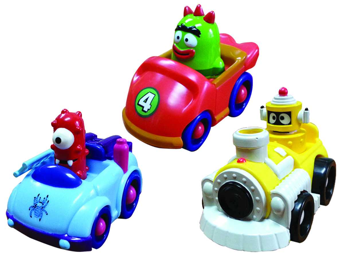 YO GABBA GABBA 4IN VEHICLE ASST