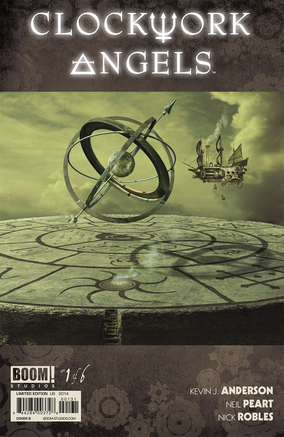 RUSH CLOCKWORK ANGELS #1 15 COPY INCV SYME VAR