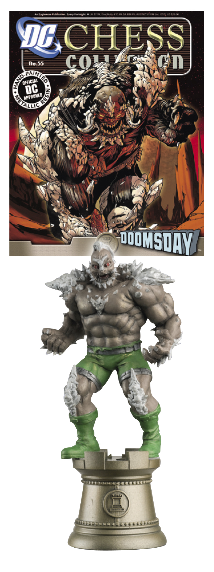DC SUPERHERO CHESS FIG COLL MAG #55 DOOMSDAY BLACK ROOK