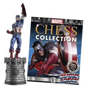 MARVEL CHESS FIG COLL MAG #6 CAPTAIN AMERICA WHITE KING