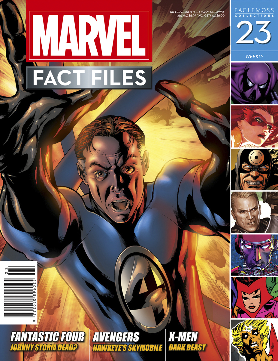 MARVEL FACT FILES #23 REED RICHARDS COVER