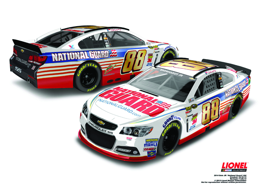 NASCAR 2014 EARNHARDT NAT GUARD CHEVY SS 1/24 DIE-CAST