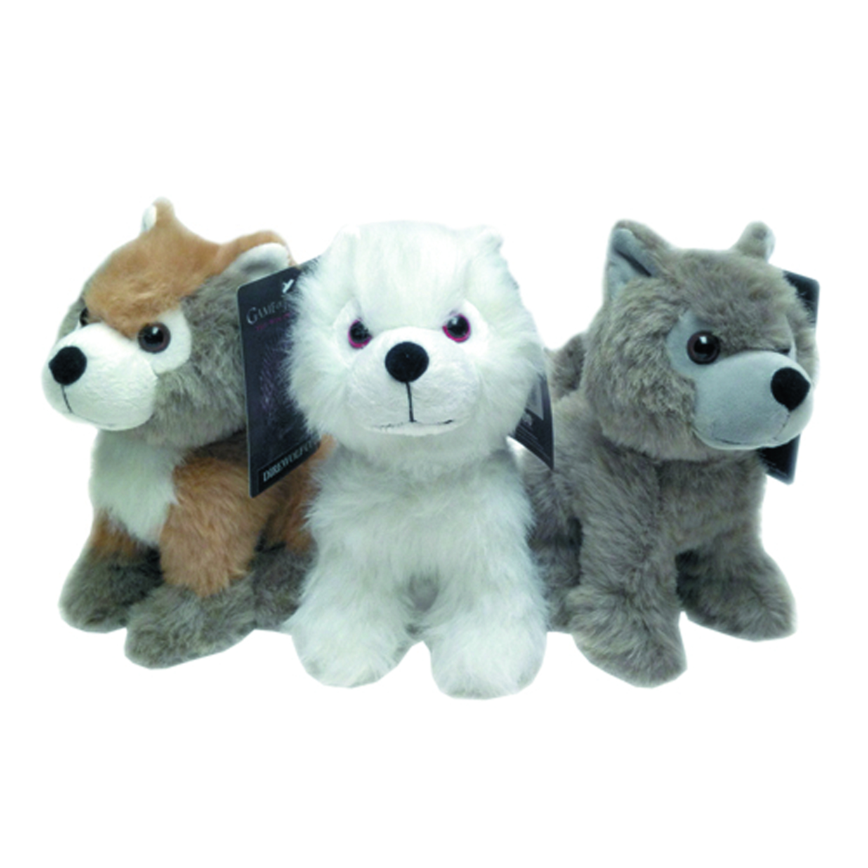 GAME OF THRONES DIRE WOLF CUB PLUSH ASST A