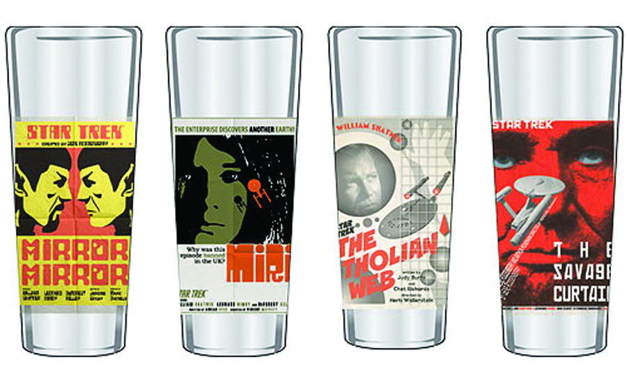 ST TOS FINE ART SHOT GLASS 4PC SER 6 SET