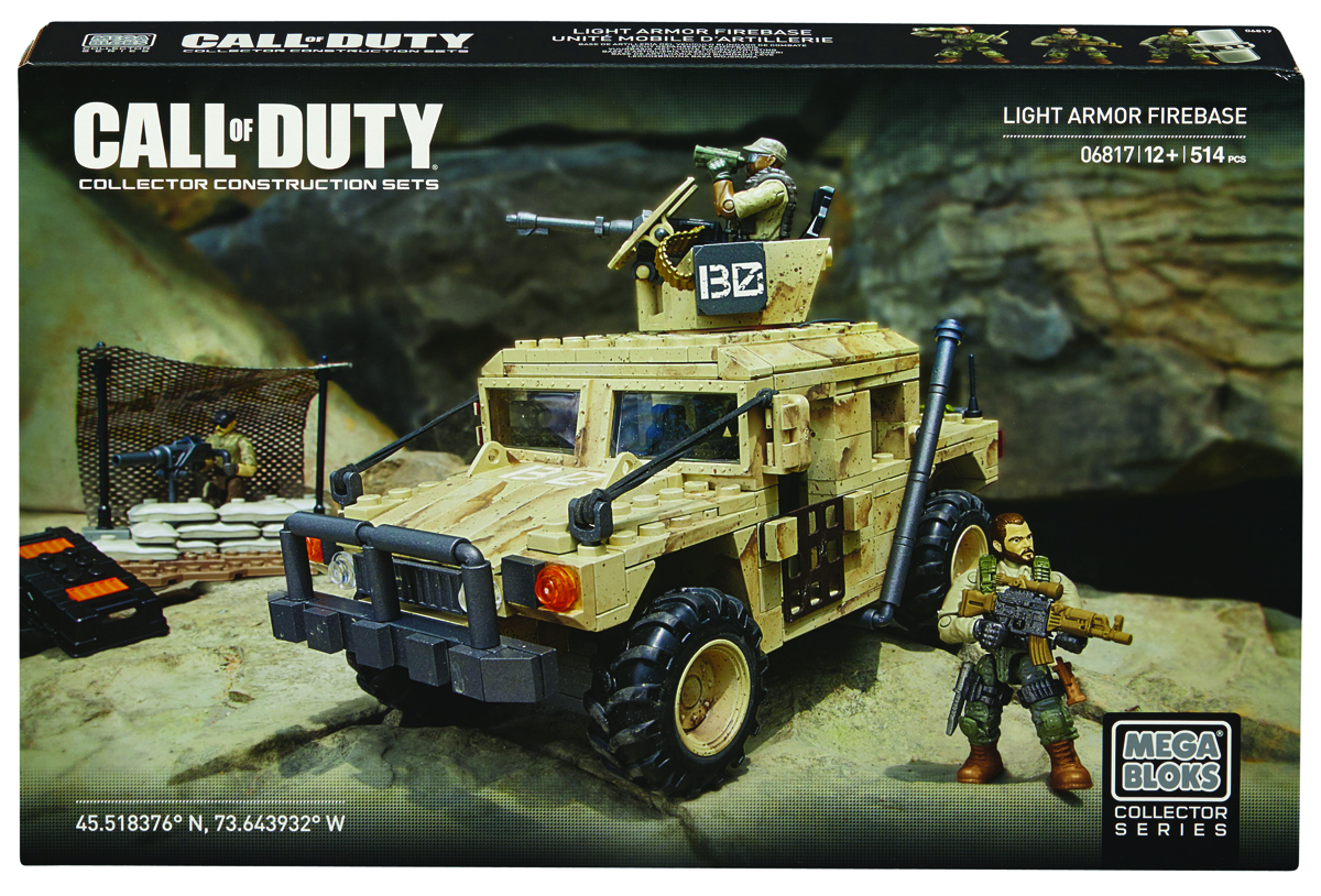 MEGA BLOKS CALL OF DUTY LT ARMOR FIREBASE SET