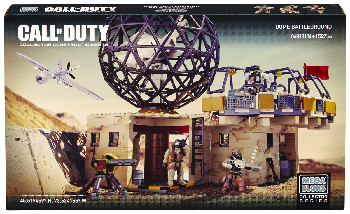 MEGA BLOKS CALL OF DUTY DOME BATTLEGROUND SET
