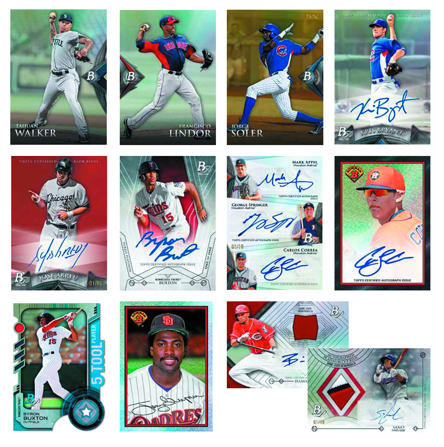 BOWMAN 2014 PLATINUM BASEBALL T/C BOX
