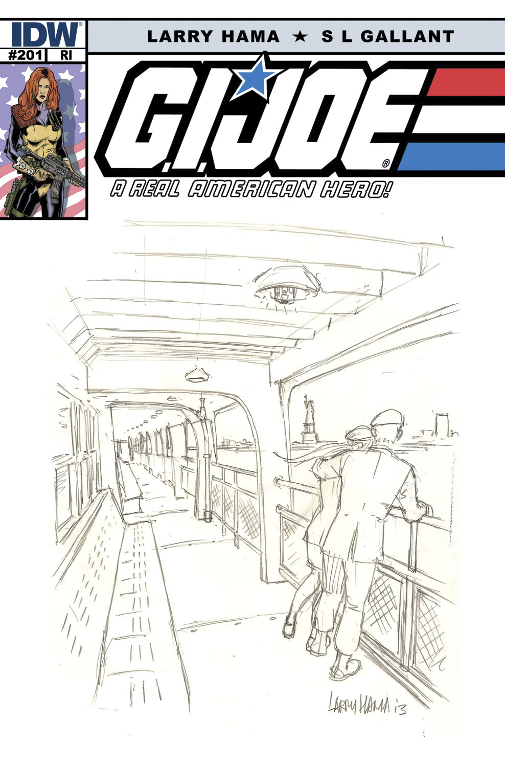 GI JOE A REAL AMERICAN HERO #201 FREE 25 COPY INCV