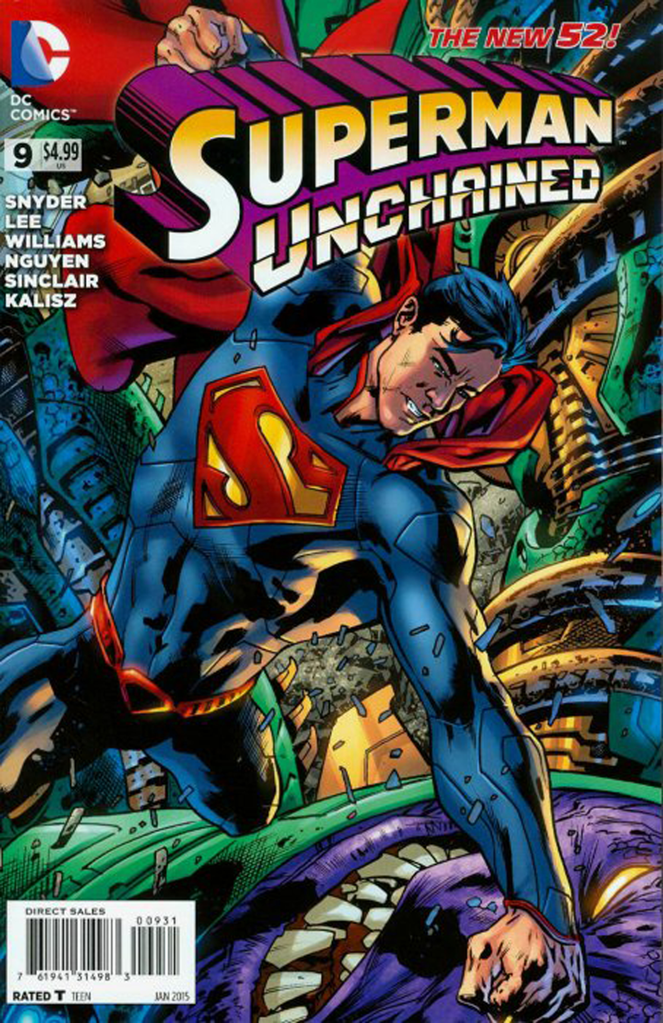 SUPERMAN UNCHAINED #9 VAR ED (RES)
