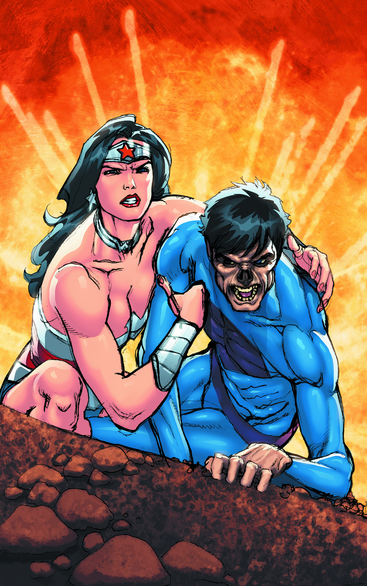 SUPERMAN WONDER WOMAN #7 VAR ED