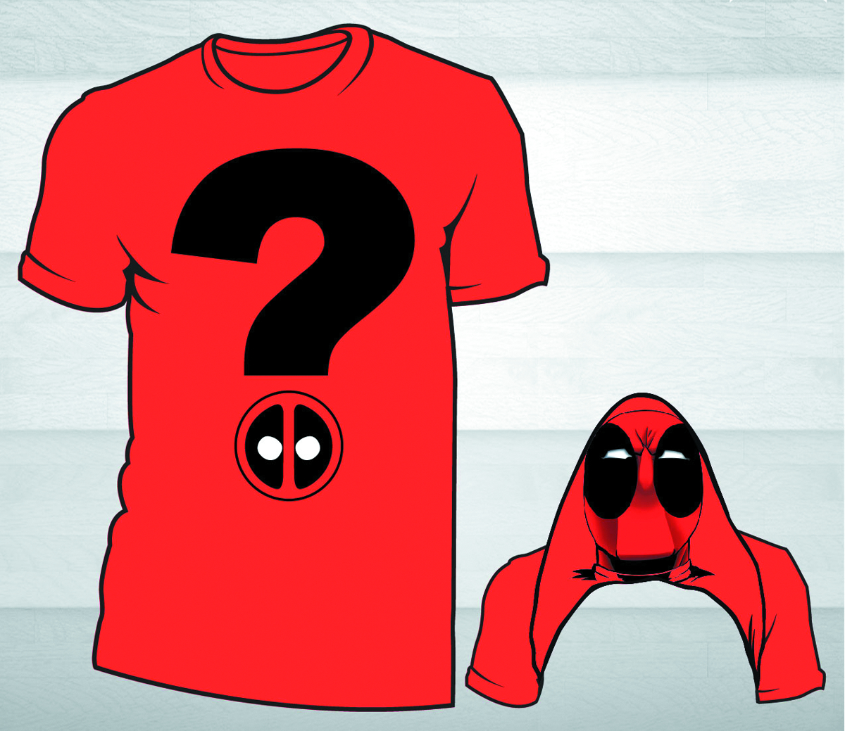DEADPOOL QUESTION MARK PX RED T/S LG