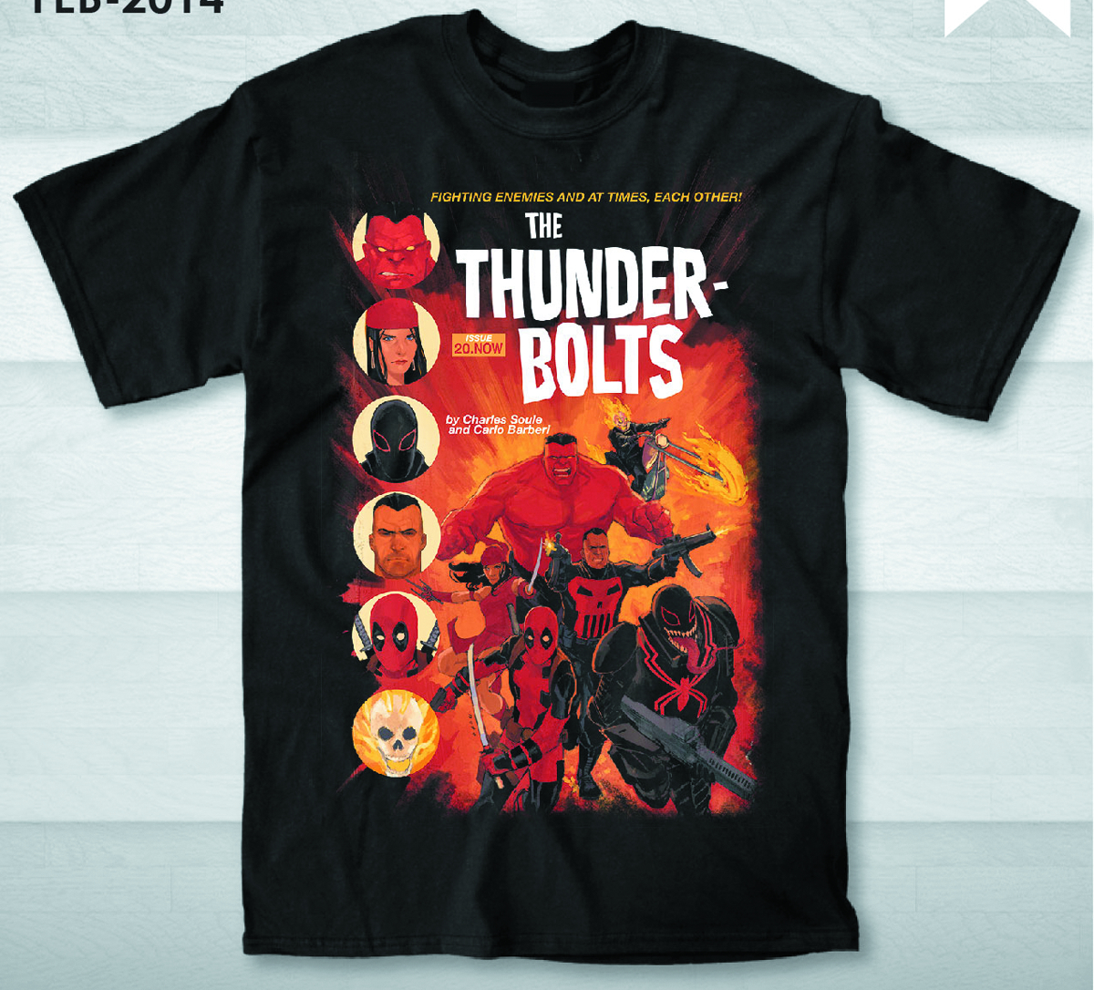 THUNDERBOLTS PX BLK T/S LG