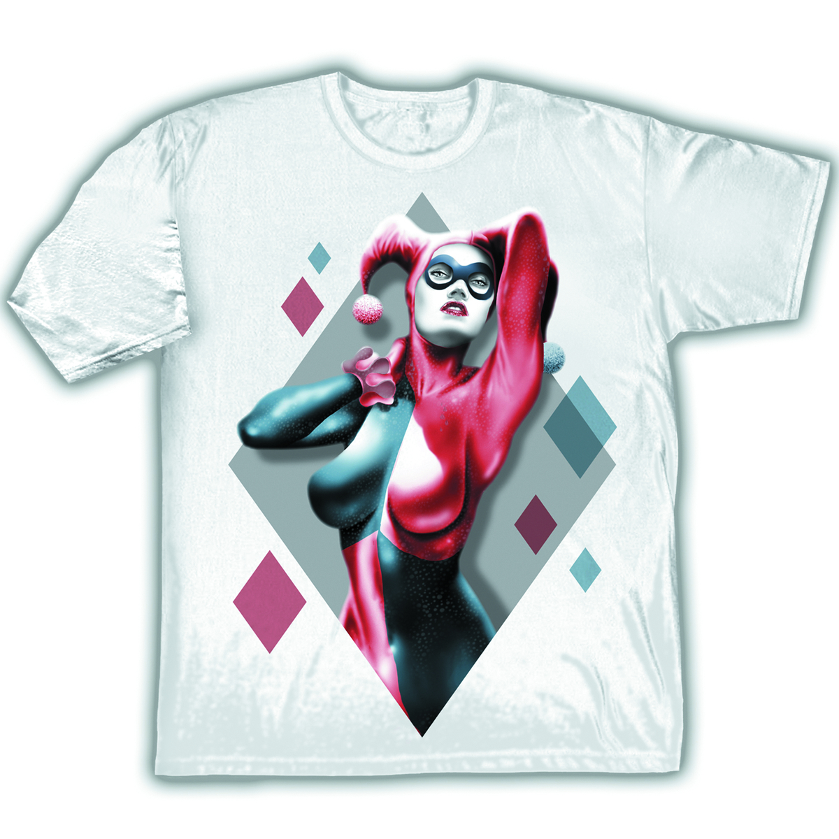 DC HARLEY QUINN DIAMONDS PX WHT T/S XL