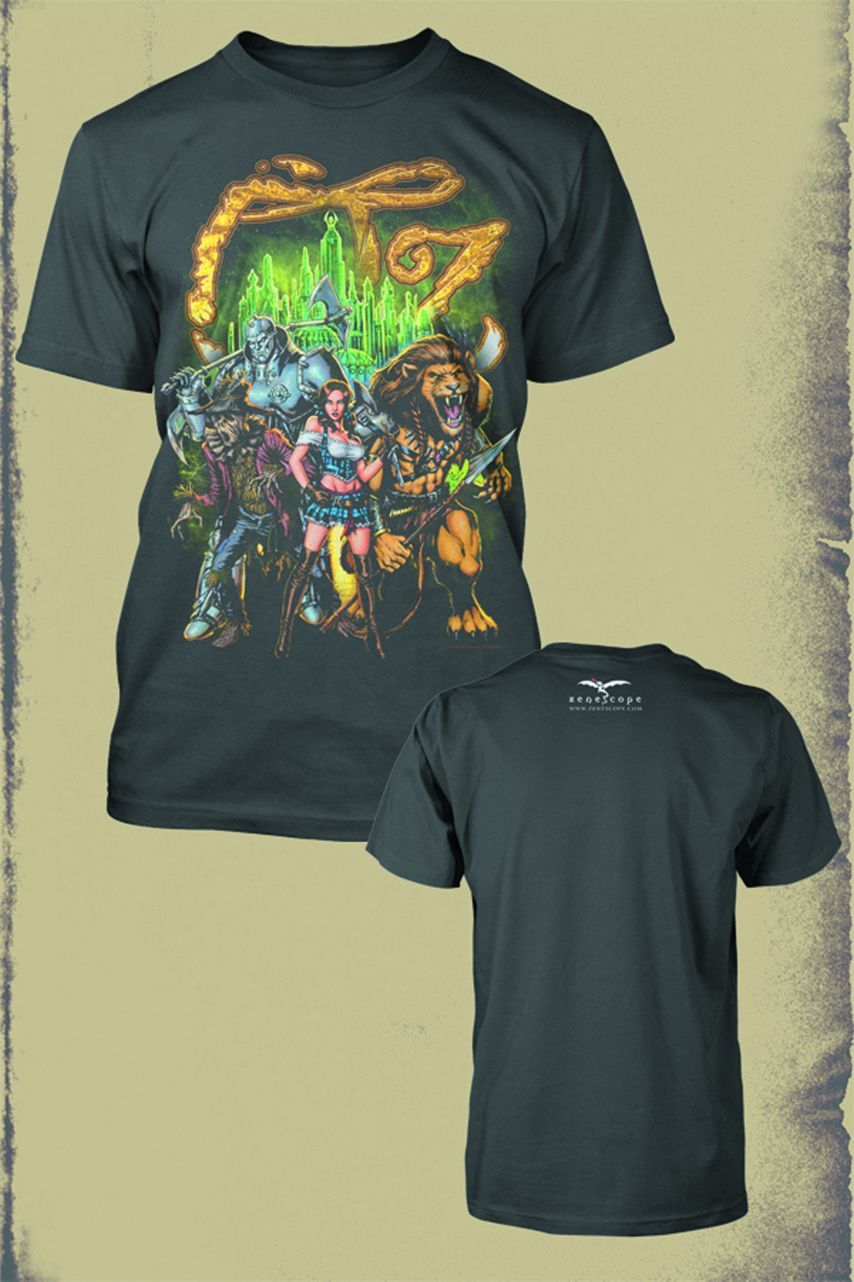 ZENESCOPE OZ EMERALD CITY PX CHARCOAL T/S LG