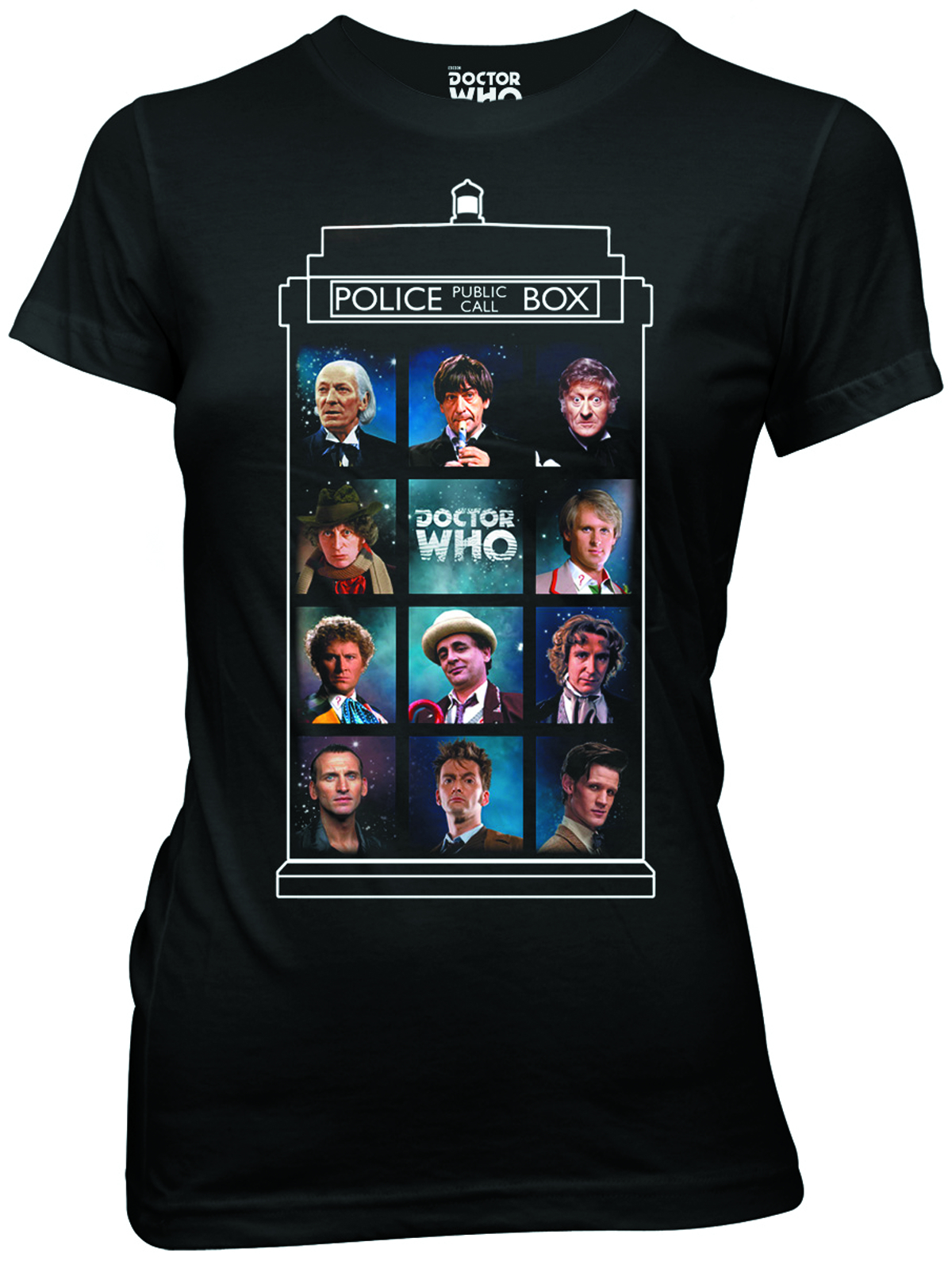 DOCTOR WHO 50 YEARS 11 DOCTORS JRS T/S SM