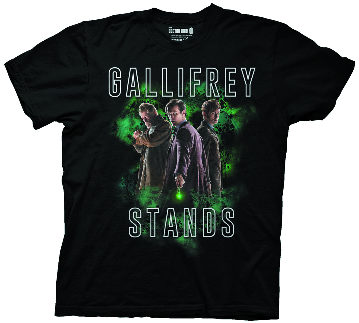DOCTOR WHO GALLIFREY STANDS BLK T/S LG