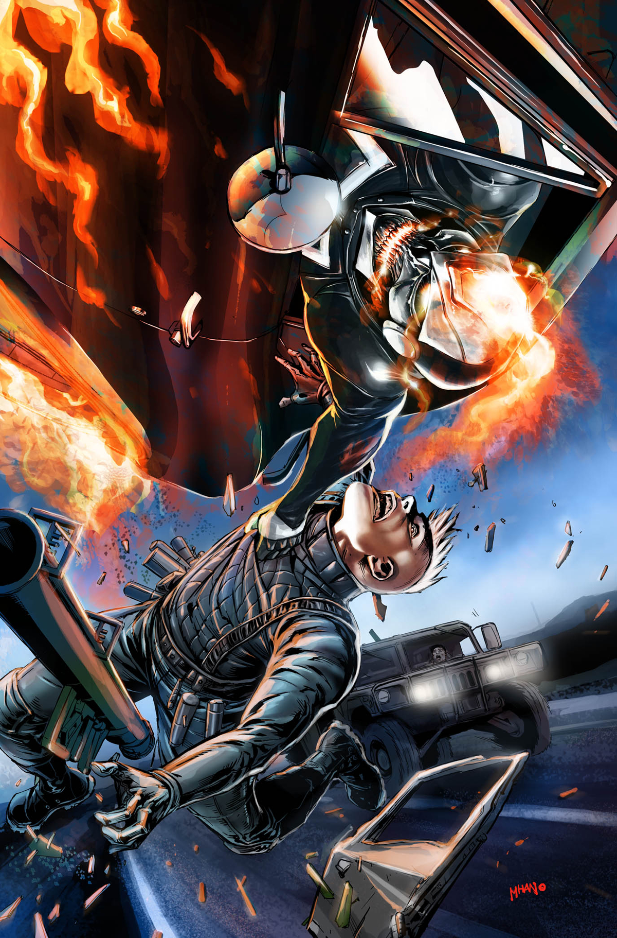 ALL NEW GHOST RIDER #2 MHAN VEHICLE VAR ANMN