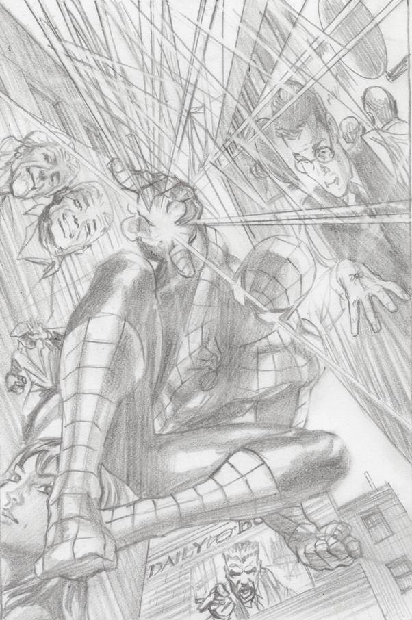 AMAZING SPIDER-MAN #1 ROSS 75TH ANNIV SKETCH VAR ANMN