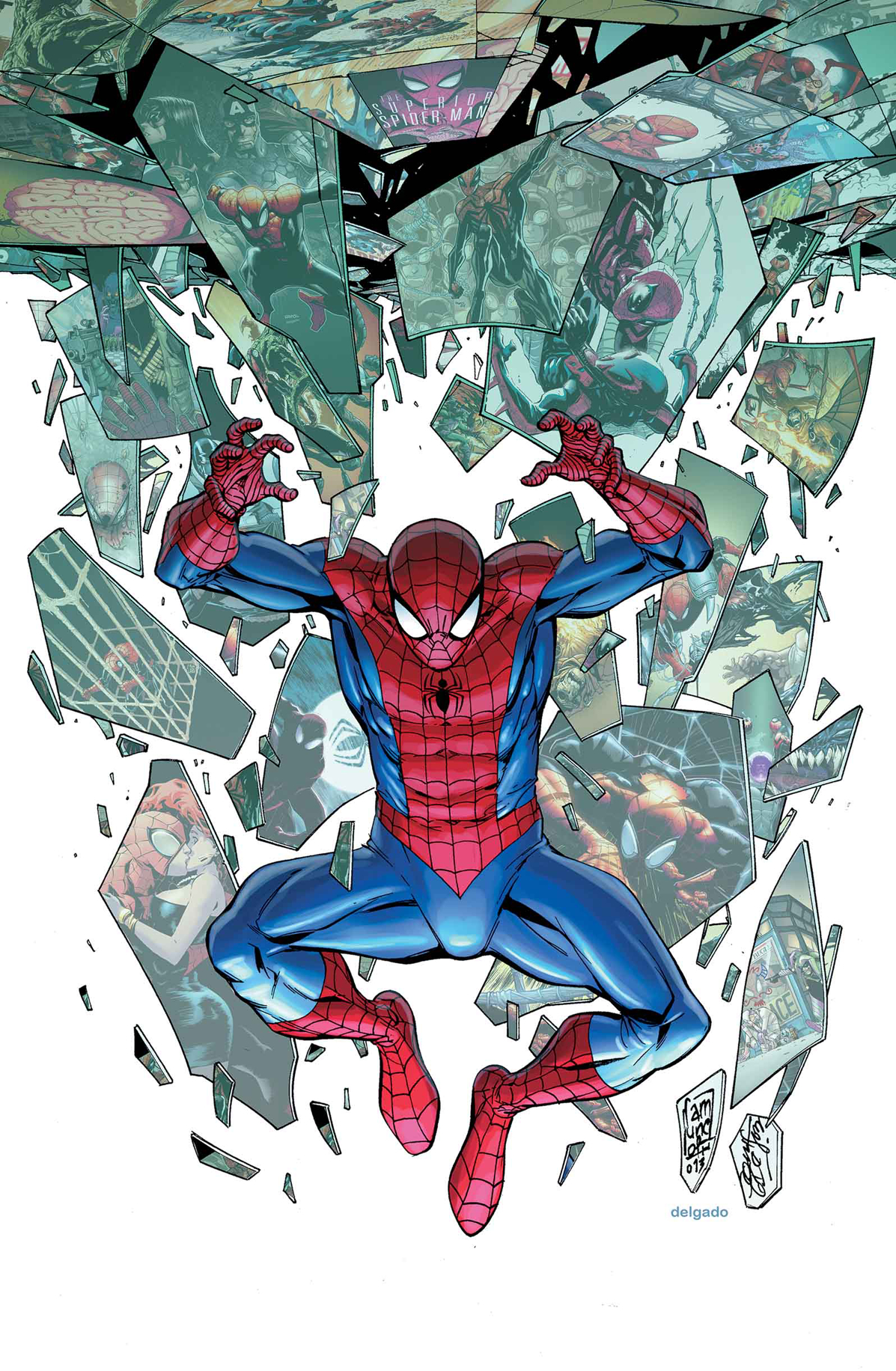 SUPERIOR SPIDER-MAN #31 CAMPBELL CONNECTING B VAR ANMN
