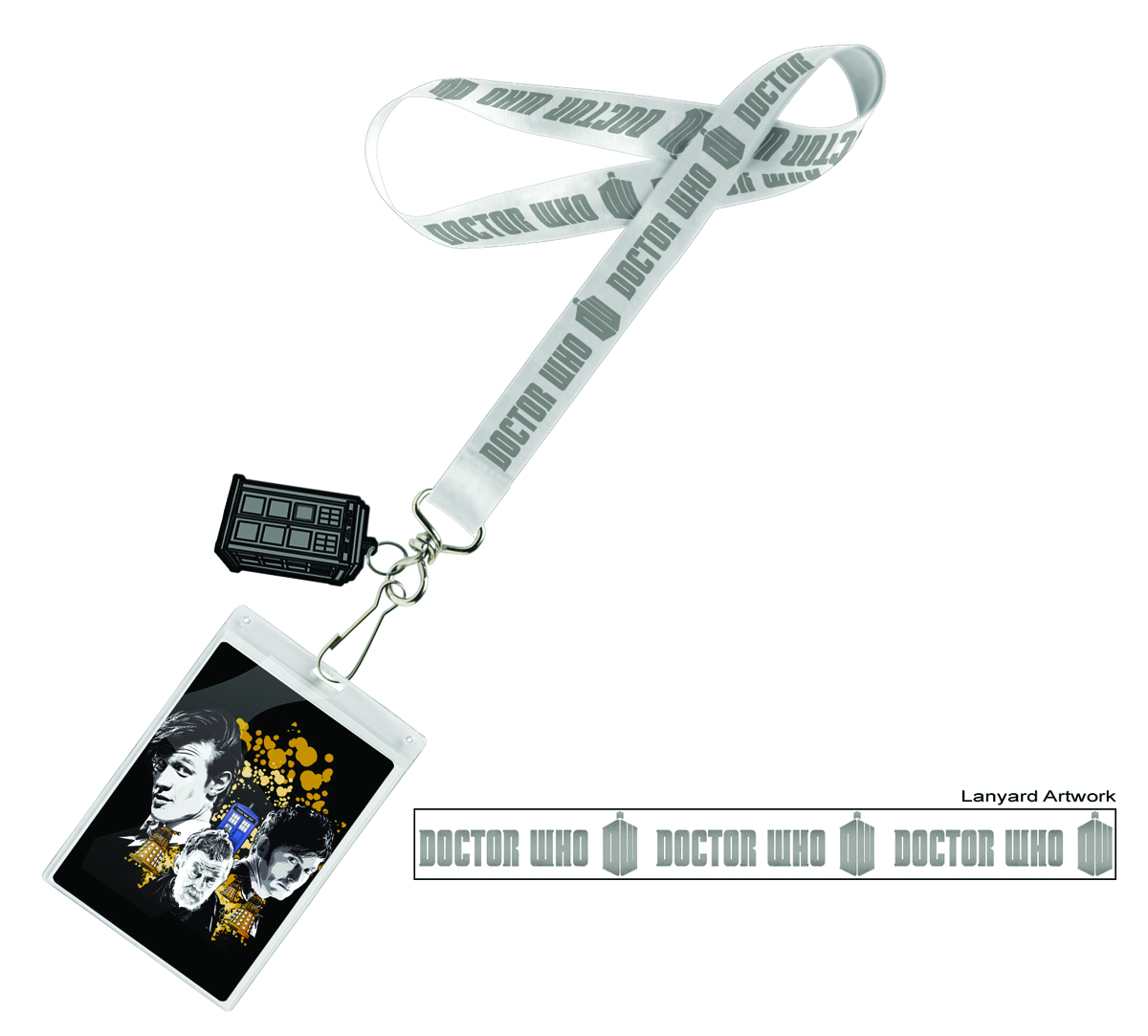 DOCTOR WHO LANYARD CHROME LOGO W/CHARM