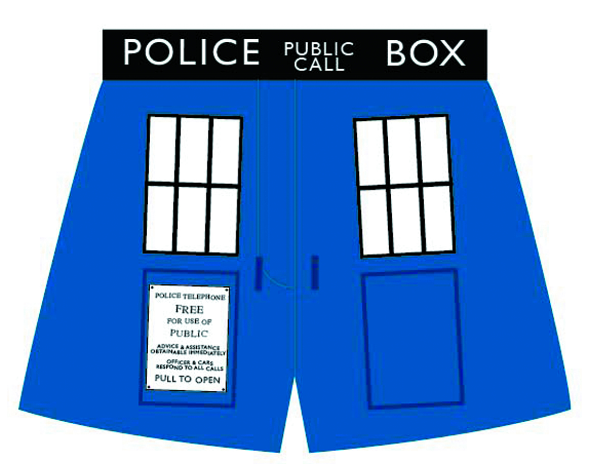 DOCTOR WHO TARDIS EXTERIOR BOXERS LG