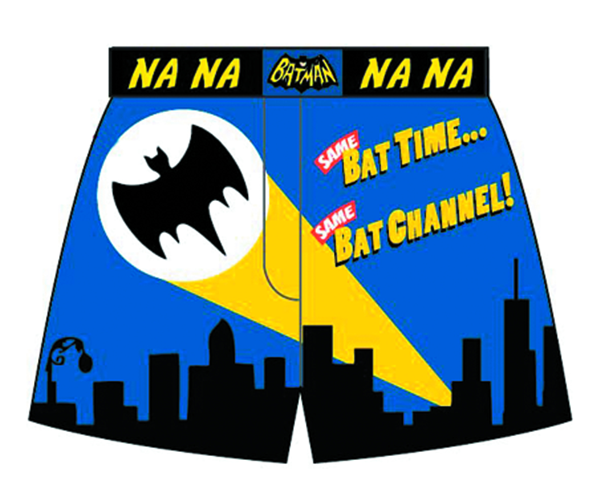 BATMAN 66 BAT TIME BAT CHANNEL GID BOXERS SM