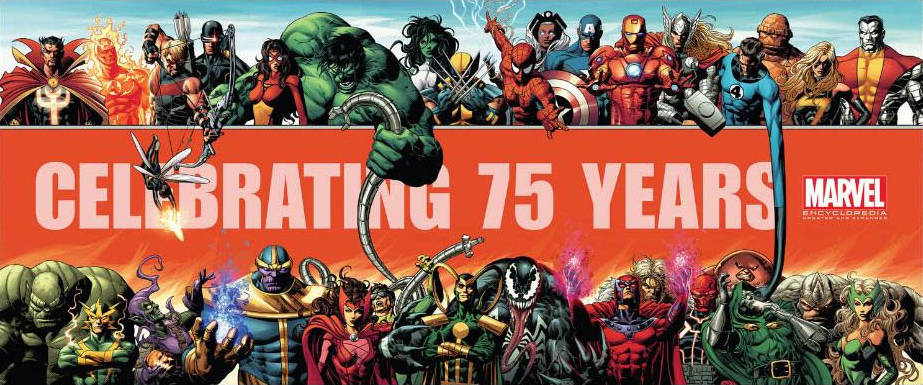 MARVEL 75TH ANNIV BY DEODATO OVERSIZED POSTER