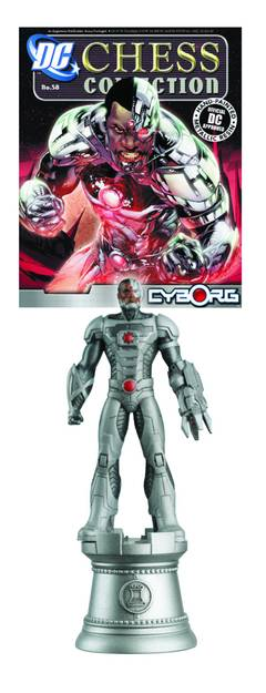 DC SUPERHERO CHESS FIG COLL MAG #58 CYBORG WHITE ROOK