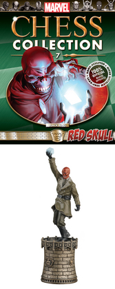 MARVEL CHESS FIG COLL MAG #7 RED SKULL BLACK KING