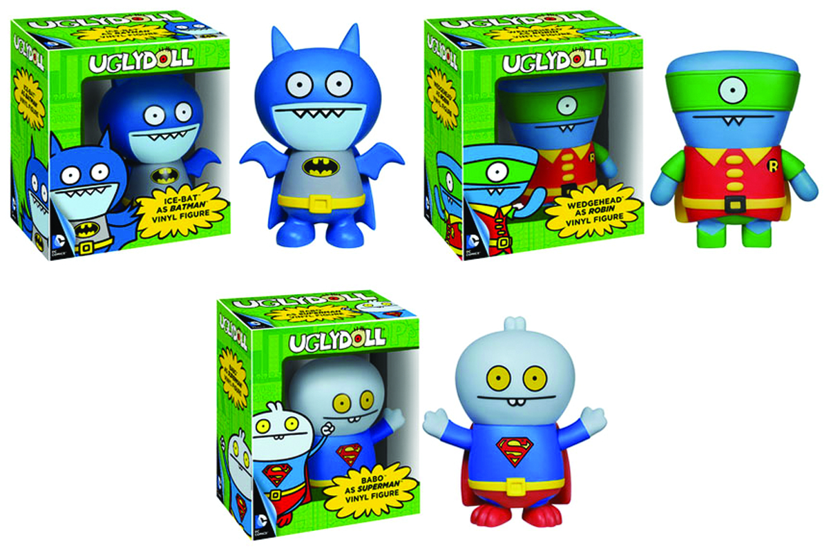 POP DC UGLYDOLLS BABO SUPERMAN VINYL FIG