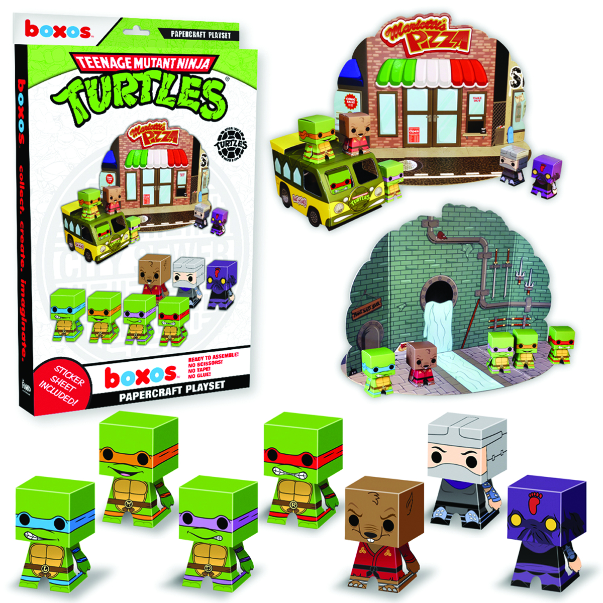 TMNT PAPERCRAFT ACTIVITY SET