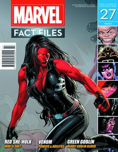 MARVEL FACT FILES #27 RED SHE-HULK COVER