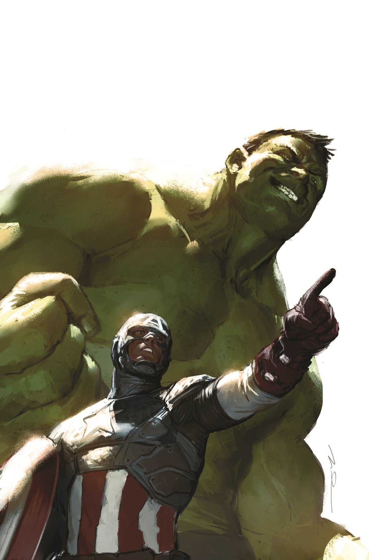 HULK #1 CAPTAIN AMERICA PAREL VAR ANMN