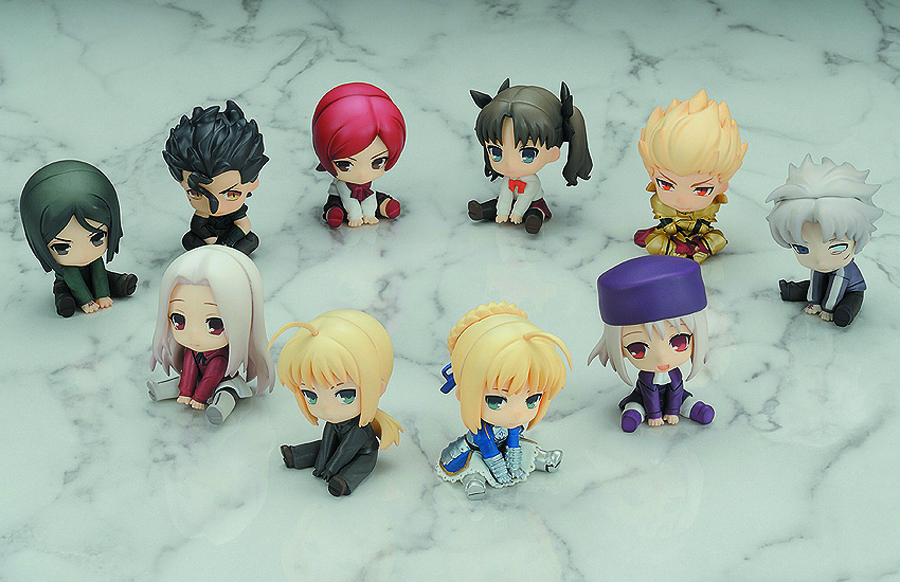 FATE/ZERO PETANKO MINI TRAD FIG 10PC DS