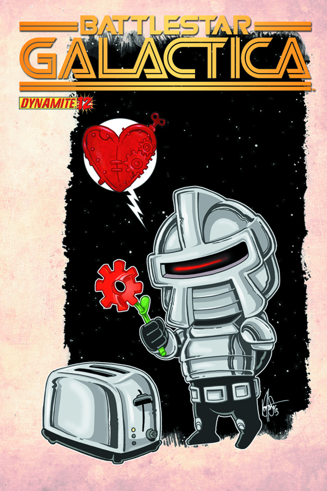 BATTLESTAR GALACTICA #12 HAESER CUTE SUBSCRIPTION VAR