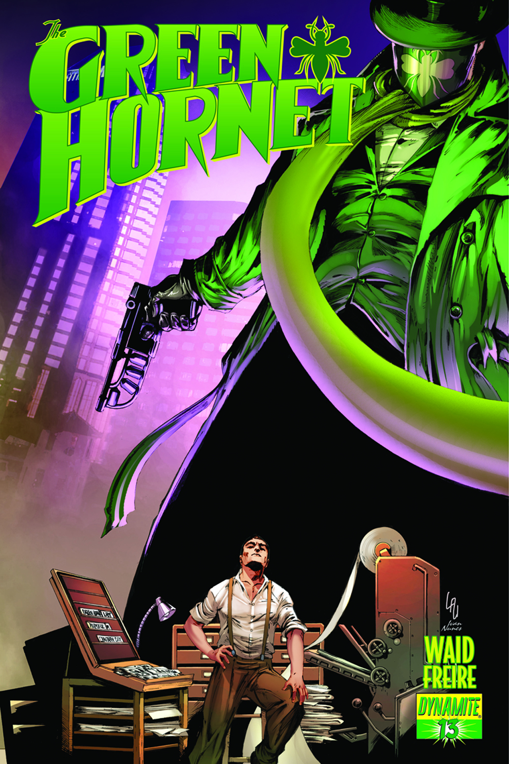 MARK WAID GREEN HORNET #13 LAU SUBCRIPTION VARIANT
