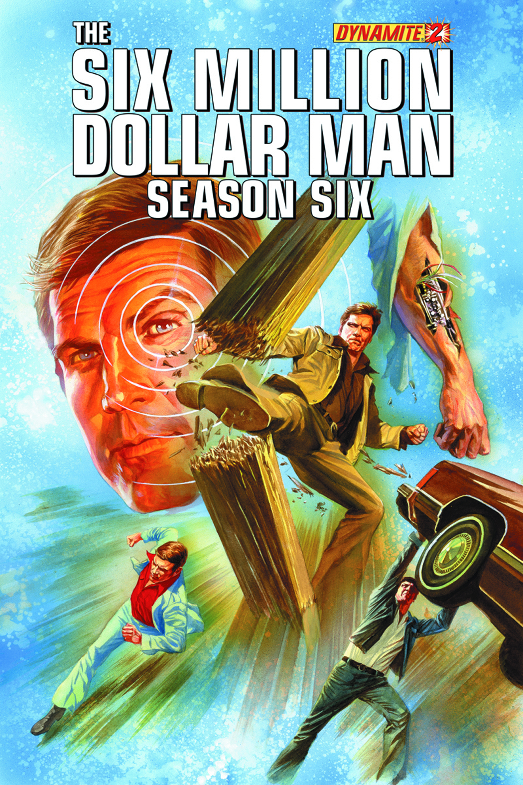 SIX MILLION DOLLAR MAN SEASON 6 #2 35 COPY GOLD SGN INCV