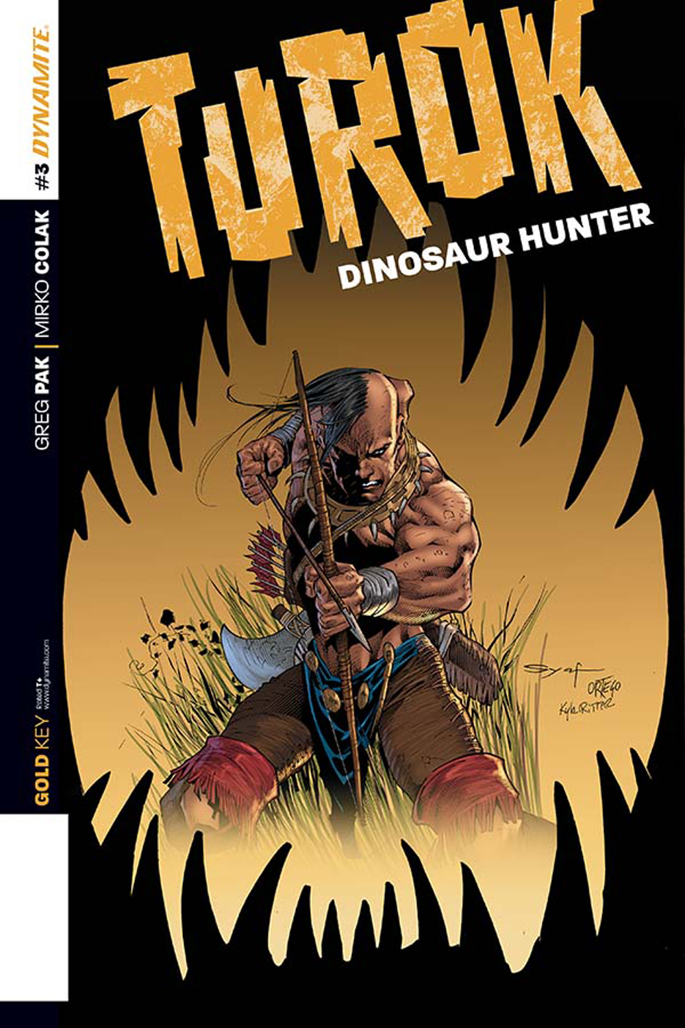 TUROK DINOSAUR HUNTER #3 25 COPY SYAF ORIG ART INCV