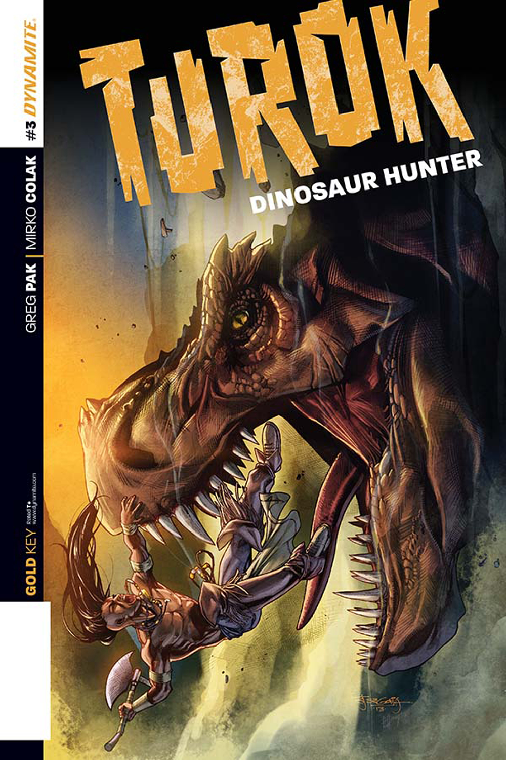 TUROK DINOSAUR HUNTER #3 50 COPY SEGOVIA ORIG ART INCV