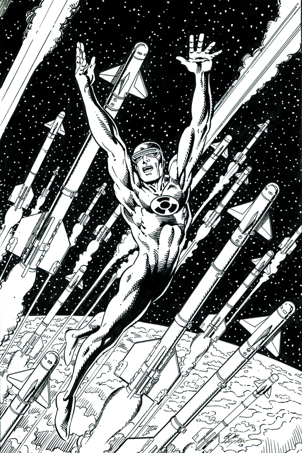 SOLAR MAN OF ATOM #1 500 COPY LAYTON B&W ART INCV