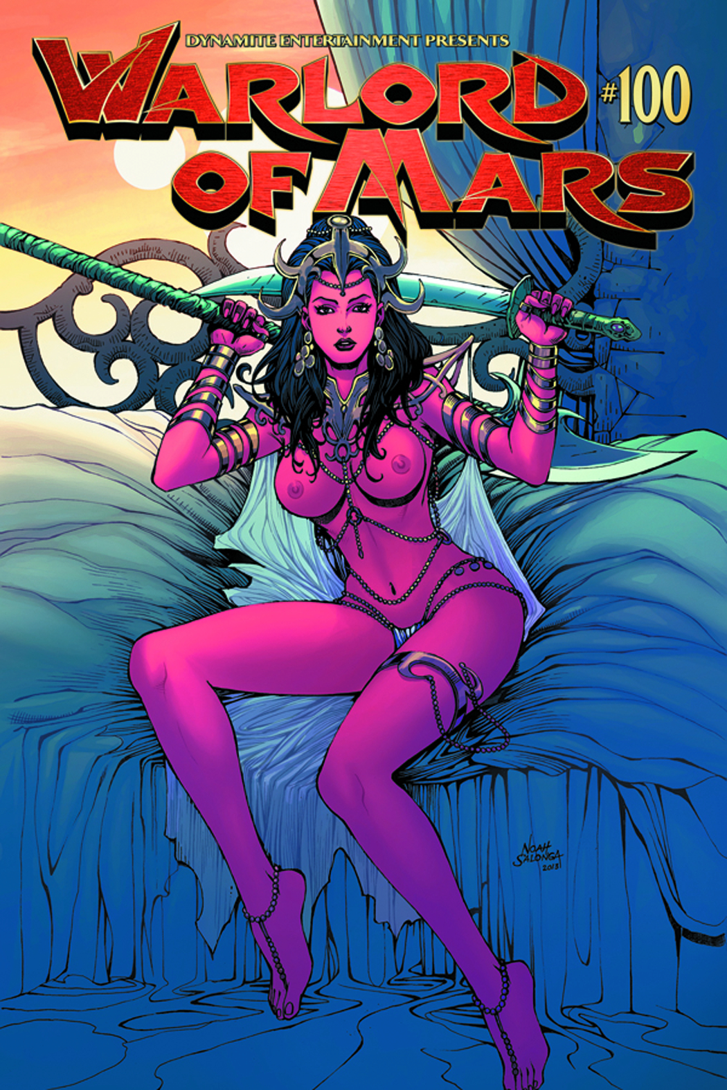 WARLORD OF MARS #100 EXC SALONGA RISQUE VAR