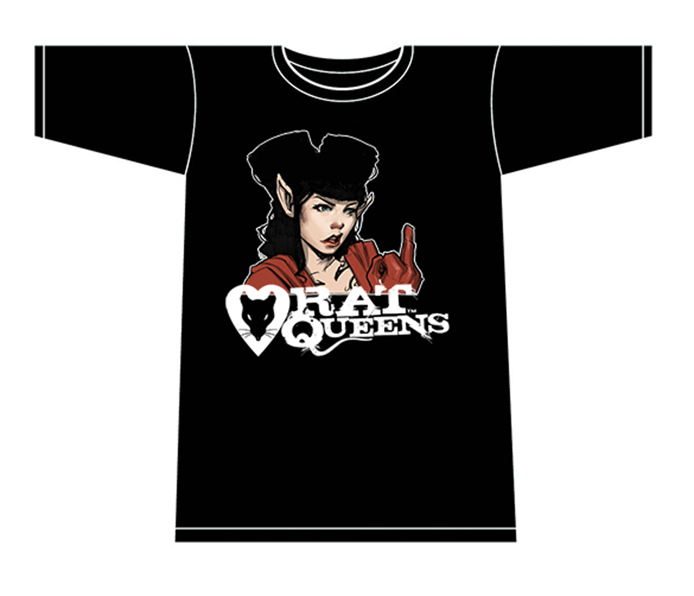 RAT QUEENS HANNAH T/S LG MENS
