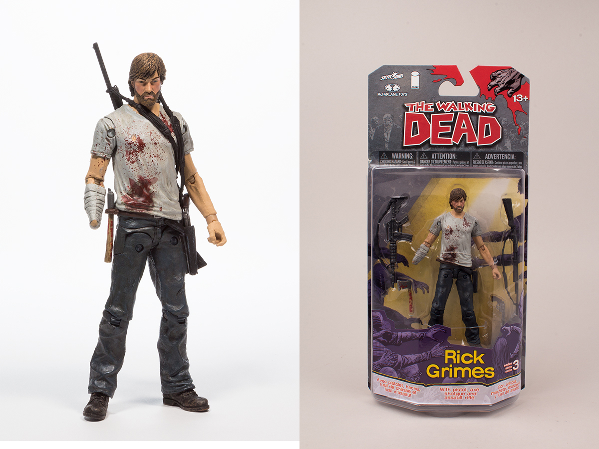 WALKING DEAD COMIC SER 3 RICK GRIMES AF CS