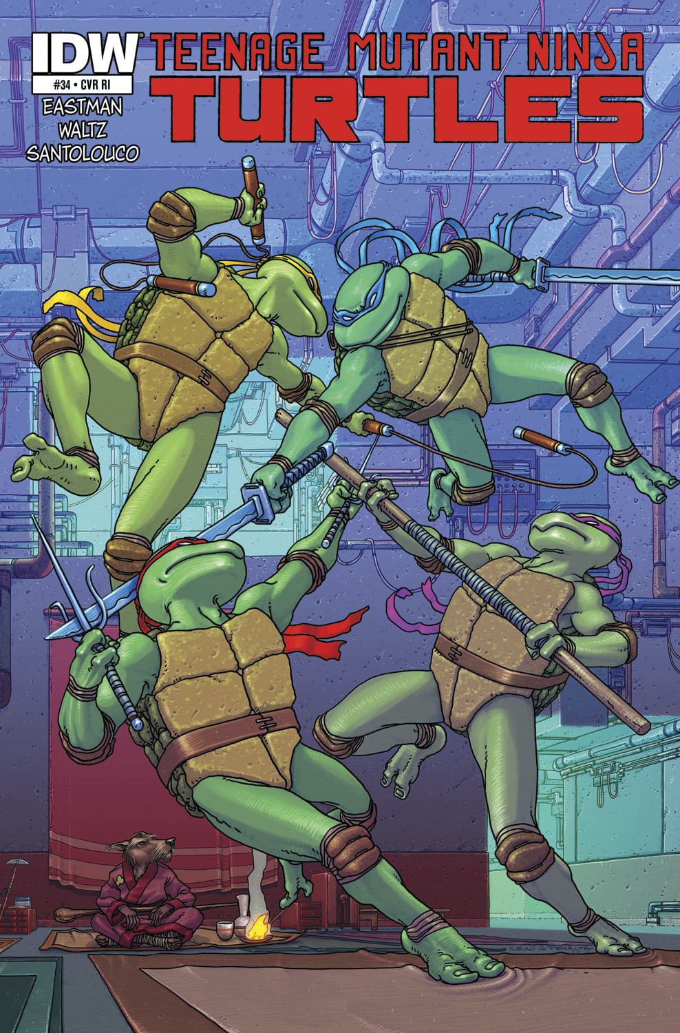 TMNT ONGOING #34 FREE 10 COPY INCV
