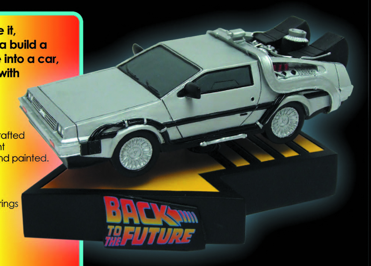 BTTF TIME MACHINE SHAKEM PREM MOTION STATUE