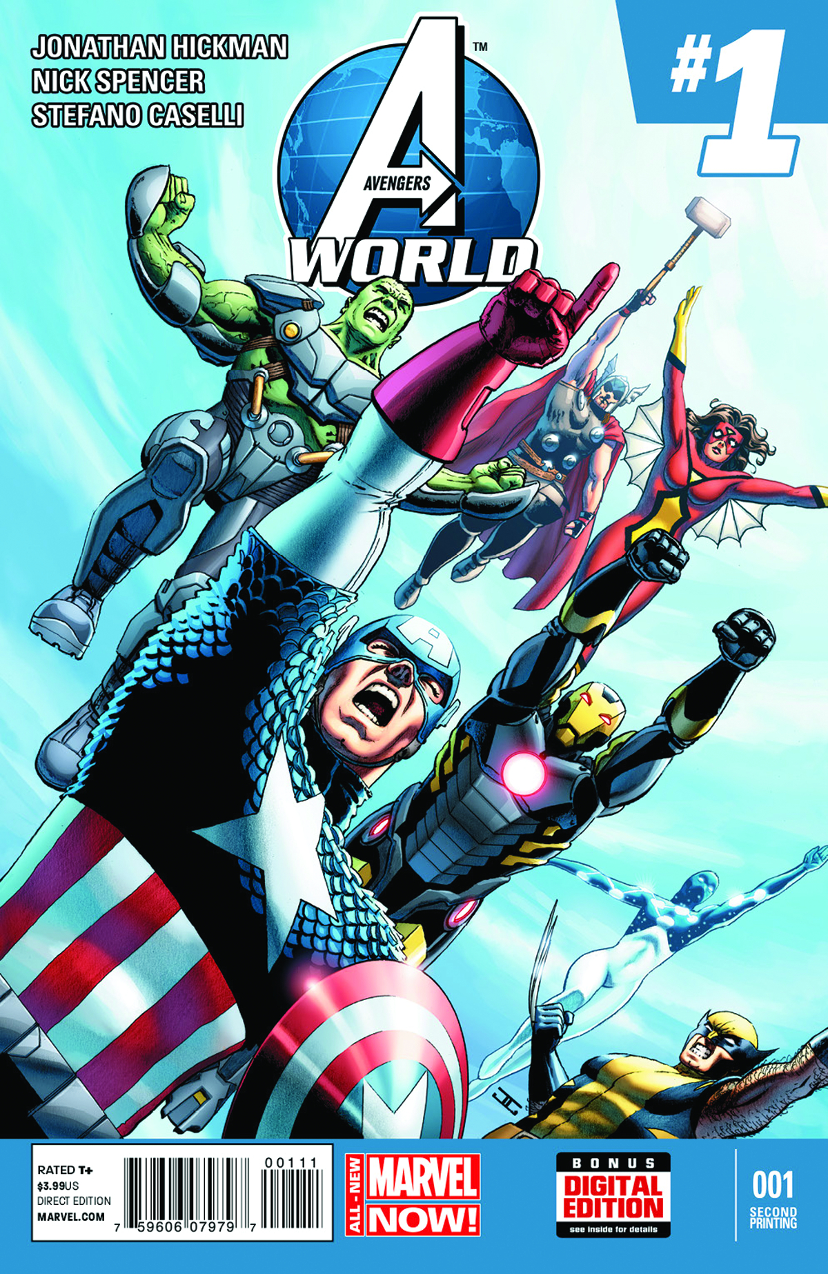 AVENGERS WORLD #1 2ND PTG CASSADAY VAR ANMN